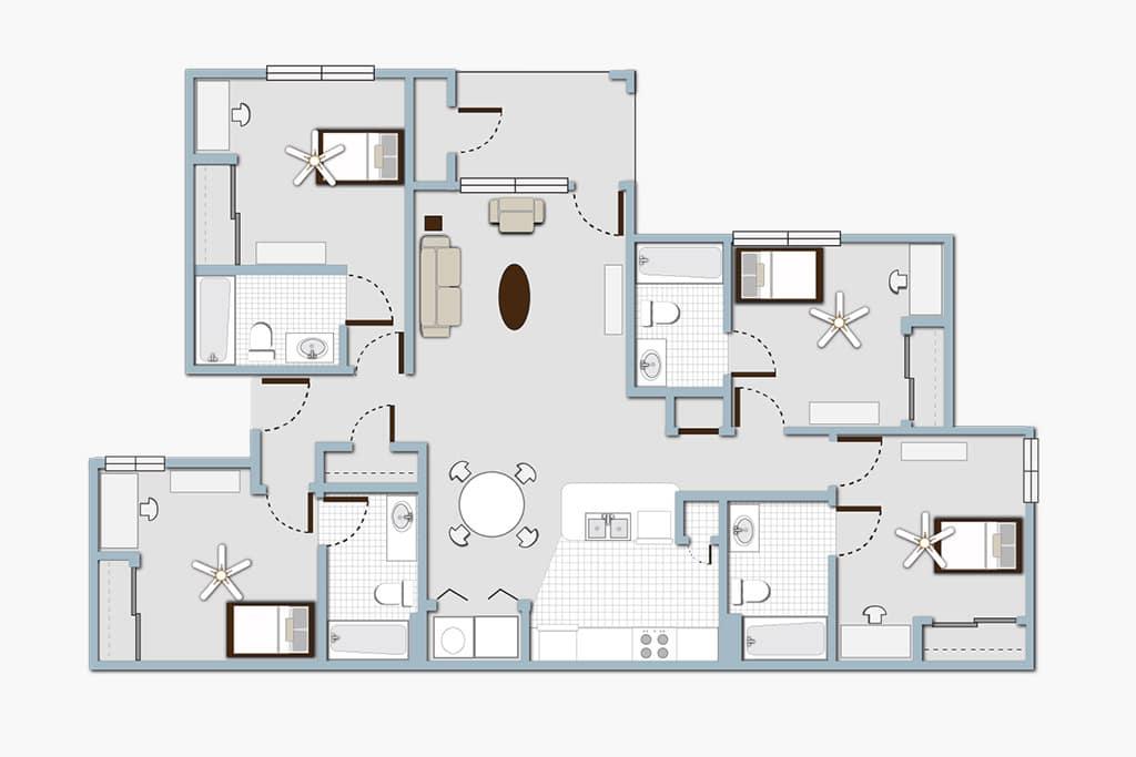 Element on Main 3 Bedroom